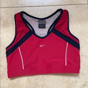 Red Nike Sports Bra DriFit